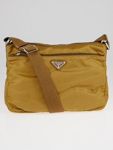 Prada Brown Tessuto Nylon Crossbody Bag