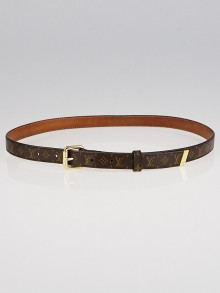 Louis Vuitton 20mm Monogram Canvas Eclipse Belt Size 80/32