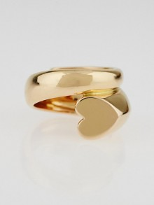Chopard 18k Rose Gold Heart Ring Size 7.5