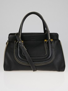 Chloe Black Calfskin Leather Everston Satchel Bag