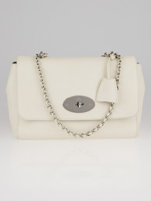 Mulberry White Glossy Goat Leather Medium Lily Bag