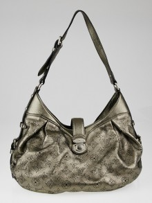 Louis Vuitton Argent Monogram Mahina Leather XS Bag