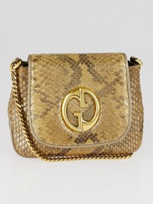 Gucci Gold Iridescent Python 1973 Small Chain Flap Bag