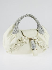Fendi White Nappa Leather Wisteria Spy Bag