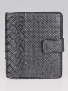 Bottega Veneta Moondust Intrecciato Grosgrain Leather Mini Wallet