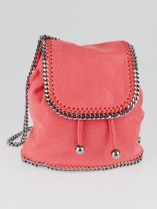 Stella McCartney Coral Shaggy Dear Faux Leather Falabella Mini Backpack
