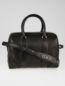 Givenchy Black Calfskin Leather Medium Lucrezia Duffle Bag