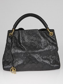 Louis Vuitton Limited Edition Navy Black Python Artsy MM Bag