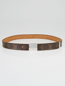 Louis Vuitton Monogram Canvas Square Belt Size 110