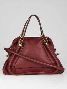 Chloe Raspberry Calfskin Leather Medium Paraty Bag