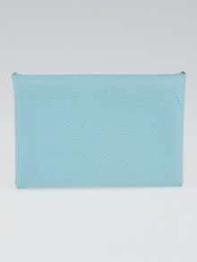 Hermes Blue Atoll Epsom Leather Calvi Case