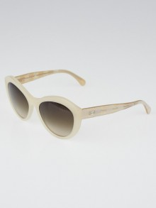 Chanel Pale Beige Frame and Lace Sunglasses - 5294