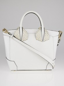 Christian Louboutin White Grained Calf Leather Large Eloise Bag