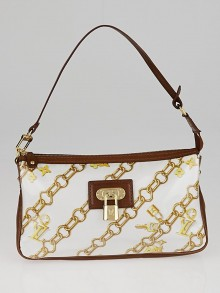 Louis Vuitton Limited Edition Brown Monogram Charms Pochette Bag