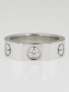 Cartier Platinum and Diamond LOVE Ring Size 49/4.5