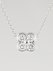 Tiffany & Co. Platinum and Diamond Flower Pendant