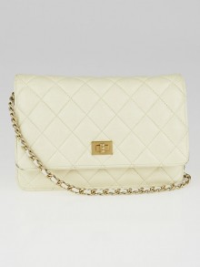 Chanel White Leather Reissue WOC Clutch Bag