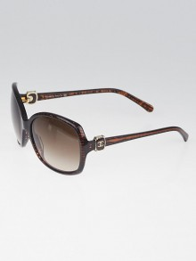 Chanel Brown Frame Brown Gradient Tint Oversize CC Sunglasses-5174