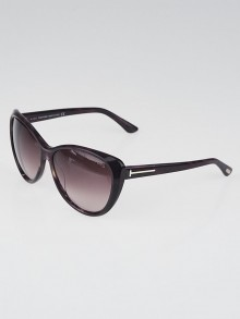 Tom Ford Purple Tortoise Acetate Frame Gradient Tint Malin Sunglasses-TF230