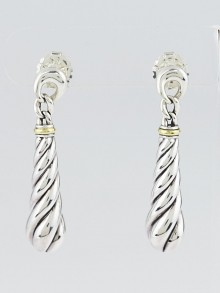 David Yurman Sterling Silver Cable Metro Drop Earrings