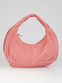 Bottega Veneta Pink Mini Ponza Leather Medium Belly Veneta Hobo Bag