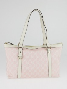 Gucci Pink GG Canvas Medium Abbey Tote Bag