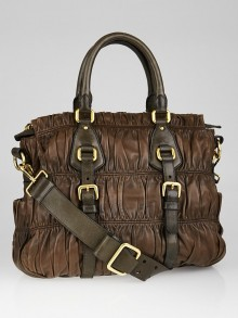Prada Noce Nappa Gaufre Leather Tote Bag BN1257