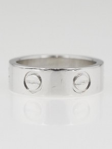 Cartier Platinum LOVE Ring Size 48/4.25