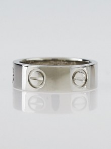 Cartier Platinum 5mm LOVE Ring Size 4.25/48