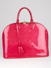 Louis Vuitton Rose Pop Monogram Vernis Alma GM Bag