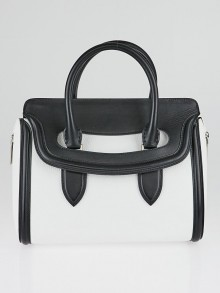 Alexander McQueen White/Black Small Heroine Bag