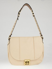 Chloe Beige Pebbled Leather Elsie Shoulder Bag