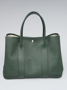 Hermes Vert Anglais Epsom Leather Garden Party 36 Bag