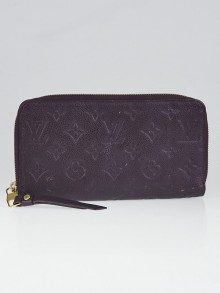 Louis Vuitton Aube Monogram Empreinte Leather Zippy Wallet