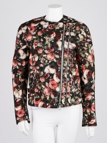 Givenchy Floral Print Wool Biker Jacket Size 4/38