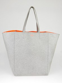 Celine Grey Coated Fabric Horizontal Phantom Medium Cabas Tote Bag