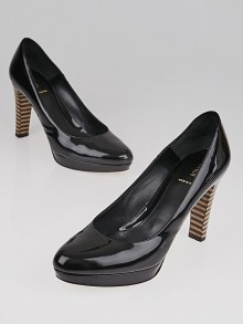 Fendi Black Patent Leather Pumps Size 9.5/40