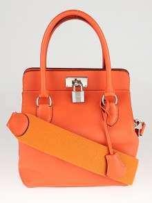 Hermes 20cm Feu Evercolor Leather Toolbox Bag