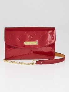 Louis Vuitton Pomme D'Amour Monogram Vernis Bel Air Pochette Bag