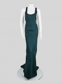 Stella McCartney Dark Green Rayon Racerback Long Dress Size 8/42