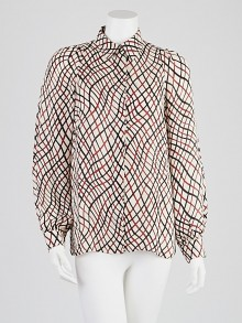 Gucci Printed Silk Blouse Size 8/42