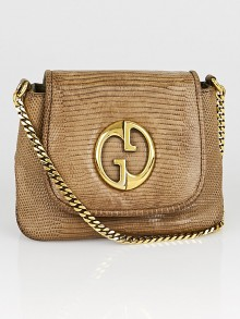 Gucci Brown Python 1973 Small Chain Flap Bag