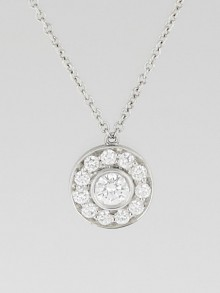 Tiffany & Co. Platinum and Diamond Circlet Pendant