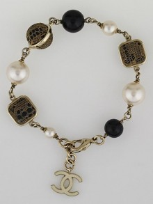 Chanel Bead and Lace CC Bracelet