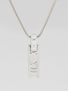 Tiffany & Co. 18k White Gold and Diamond Atlas Bar Pendant