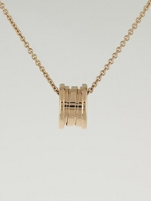 Bvlgari 18k Pink Gold B.Zero1 Small Pendant Necklace
