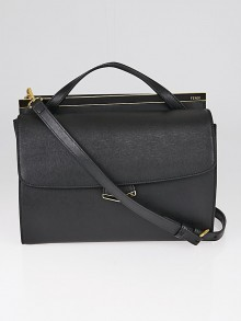 Fendi Black Saffiano Leather Demi Jour Shoulder Bag 8BT222