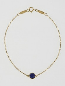 Tiffany & Co. 18k Gold and Lapis Elsa Peretti Color by the Yard Bracelet
