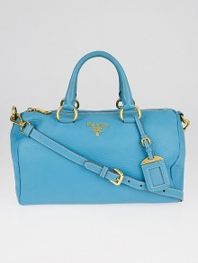 Prada Voyage Vitello Daino Leather Bauletto Bag