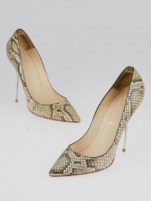 Christian Louboutin Beige Python Pointed Toe Pumps Size 11.5/42